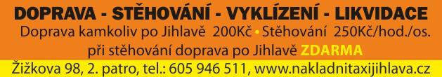 Rozvoz zásilek, expresní přeprava, nákladní taxi Jihlava