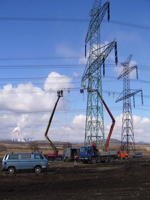 Stromleitungsprojekte Prag, die Tschechische Republik