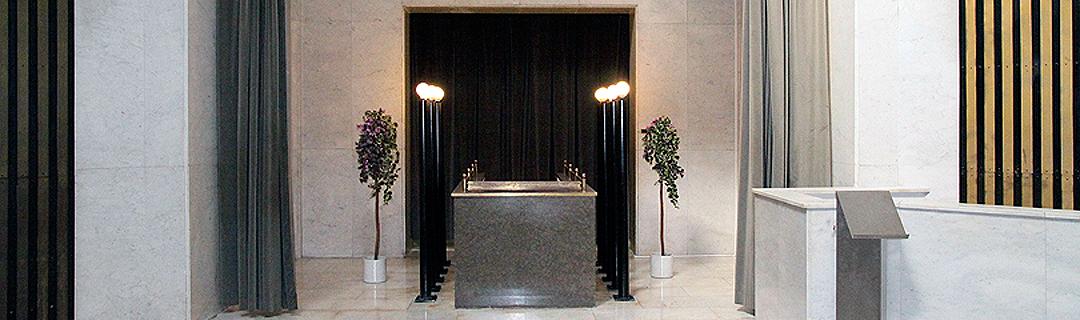 Nová obřadní síň na hřbitově Olšany