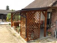 Dřevěné pergoly ze sušených smrkových hoblovaných KVH hranolů | Hradec