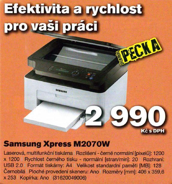 Laserová multifunkční tiskárna Opava