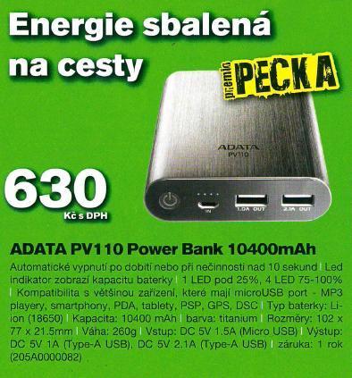 Přenosná nabíječka - power bank nejen na mobil, skladem