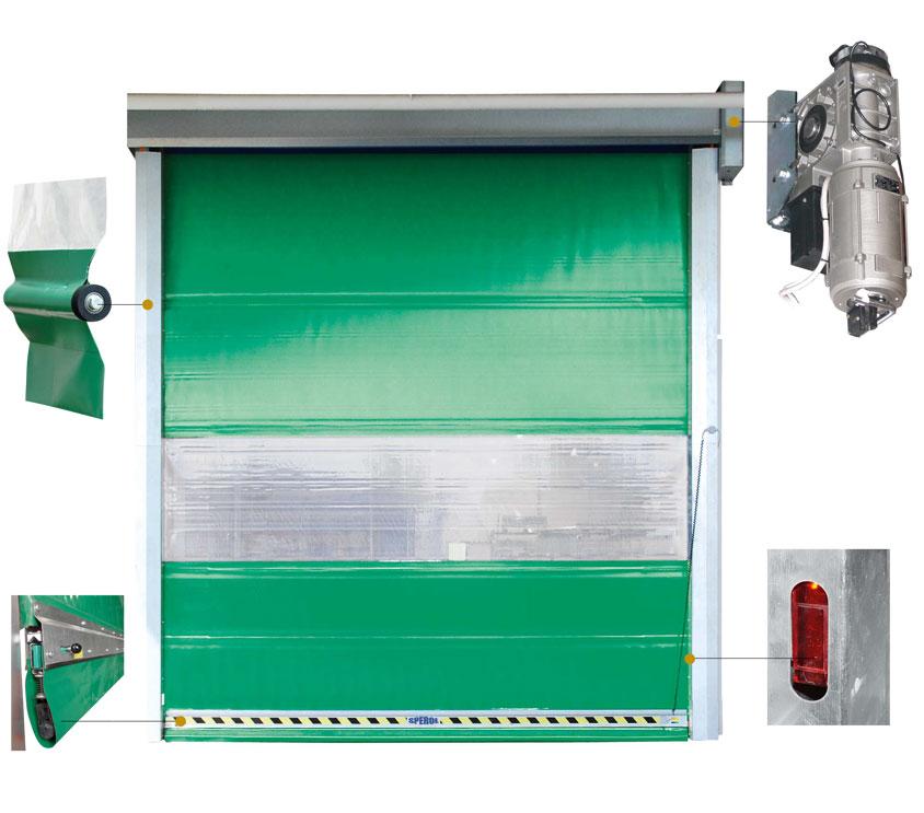 SPEROL – PR/R  Výroba rychloběžných rolovacích průmyslových vrat Králův Dvůr