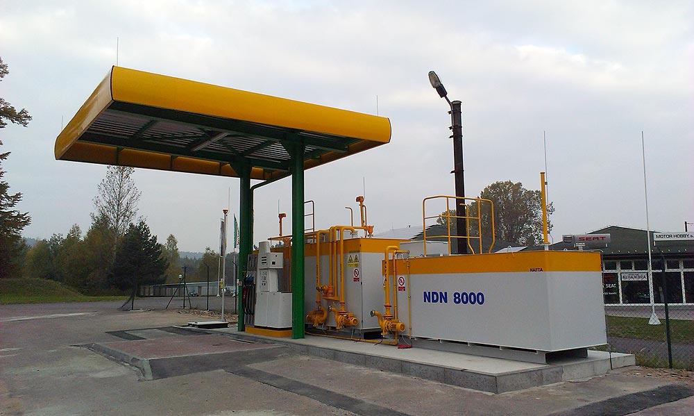 Výdejní stojany čerpacích stanic