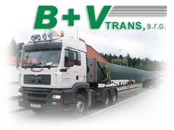 B+V trans, s.r.o. - autojeřábnické práce a přeprava těžkých nákladů