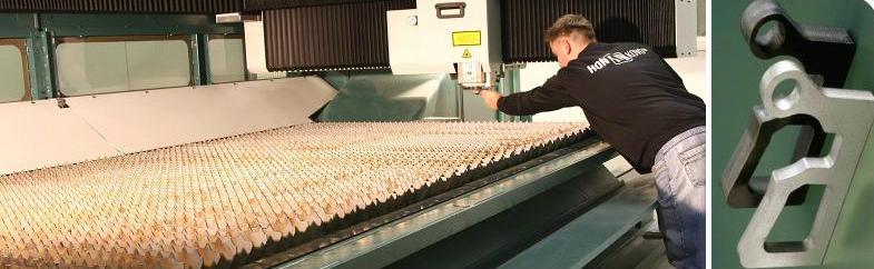 Pálení laserem - CNC přesné řezání tvarových výpalků z plechu