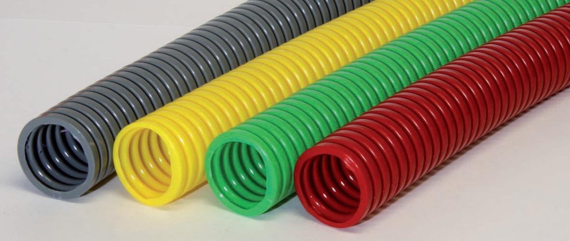 Plastové ochranné trubky, hadice a systémy ochrany kabelových svazků