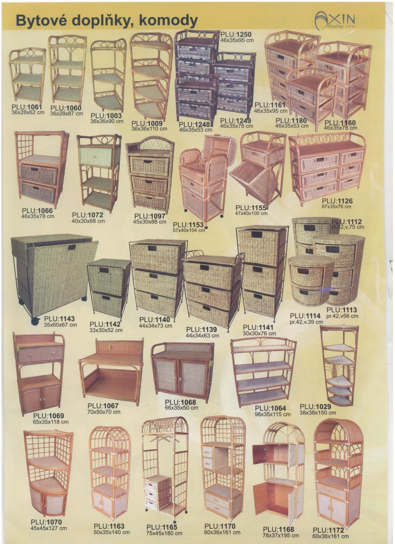 Ratanový nábytek a doplňky