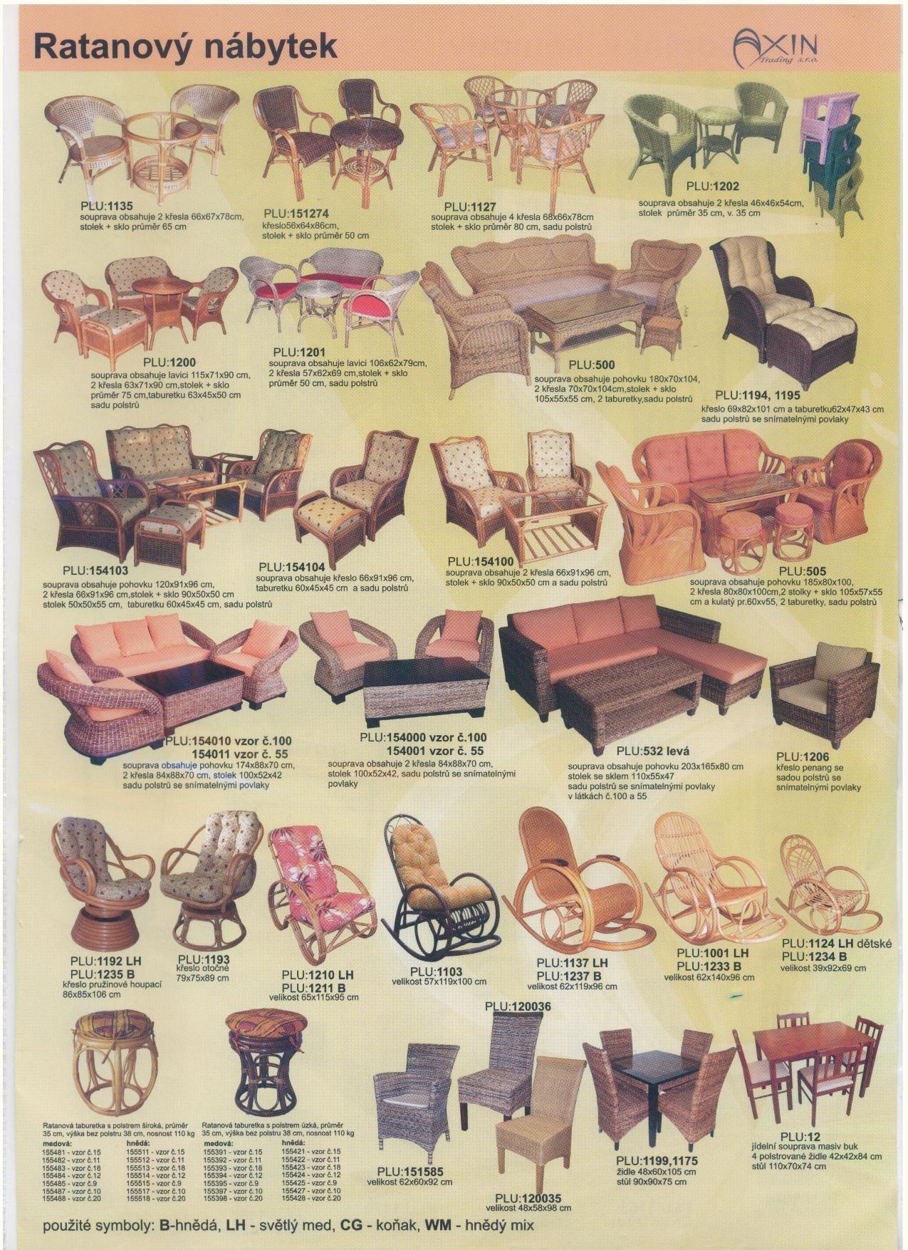Ratanový nábytek ryze ruční výroby