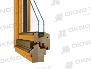 Dřevěné okna, eurookna, Profil EURO 78 W