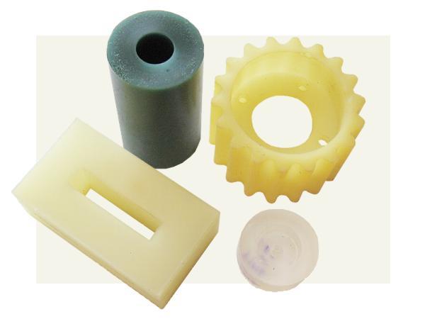 Výrobky z polyuretanových elastomerů-pojezdová kola, silentbloky, bandáže kol