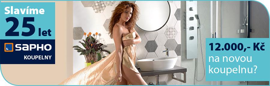 Akce - realizace nové koupelny SAPHO se slevou 12000 Kč pro prvních 100 zákazníků