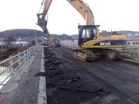 demolice mostu Uherské Hradiště