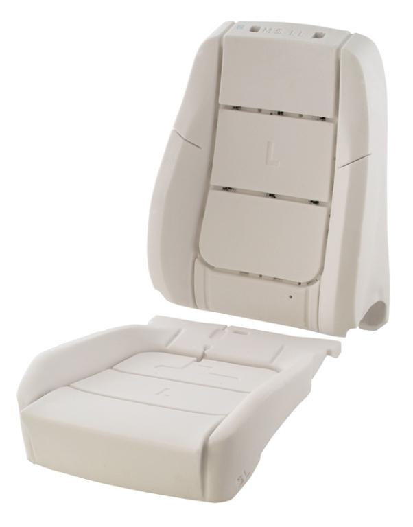 Pěnové výplně výplně sedadel pro automobilový průmysl – kvalitní výplně zaručují odpovídající tuhost sedadel