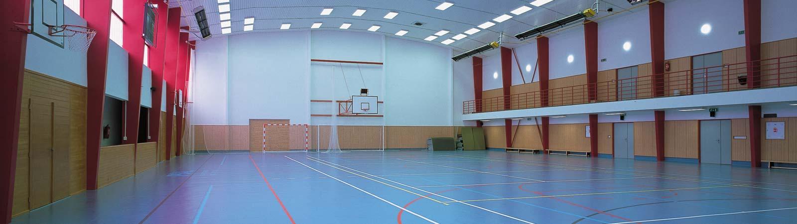 Sportovní hala pro míčové hry, volejbal, tenis, florbal, házená, košíková