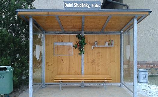 Moderní prosklené autobusové zastávky - výroba Šumperk, Zábřeh