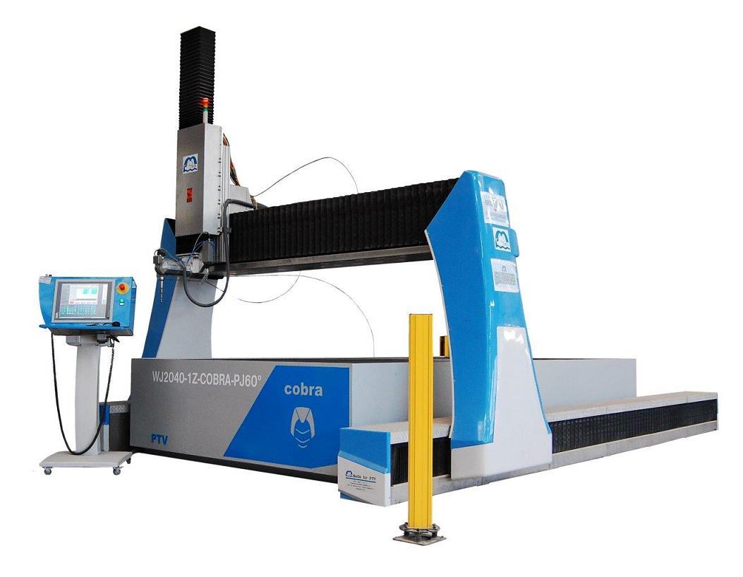 COBRA CNC obráběcí stroj pro řezání vodním paprskem