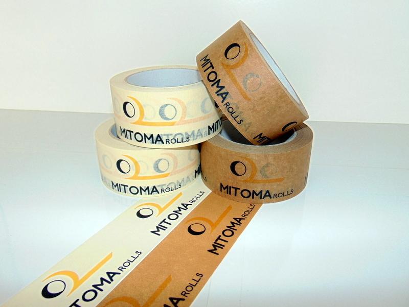 Kvalitní potisk samolepicích papírových pásek - odolné, nezatěžující životní prostředí