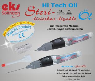 Sterilizační olej ke sterilizaci nástrojů Brno, olej pro chirurgické a stomatologické nástroje.