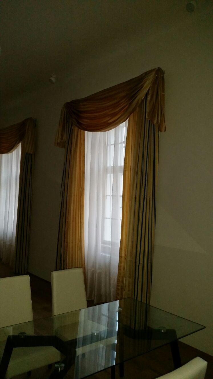 Záclony a závěsy pro oblouková okna