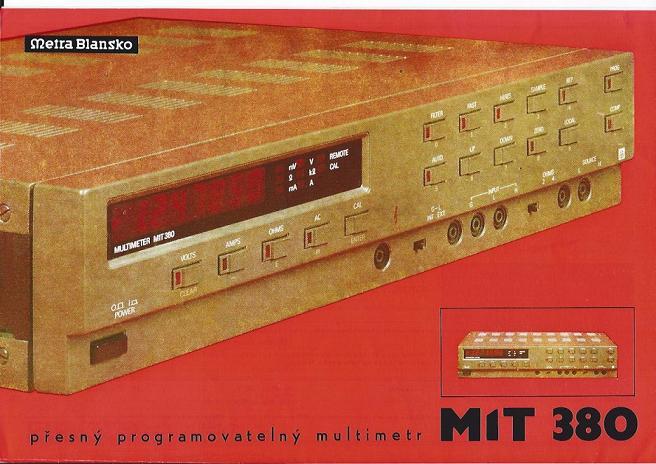 Vysoce přesný číslicový programovatelný multimetr k měření napětí, proudu, odporu M1T 380