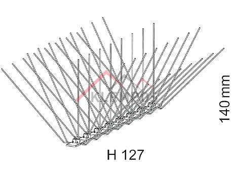 Hrotový systém H 127 - ochrana proti ptákům, KLEMPOS - STŘECHY, s.r.o.