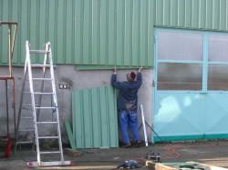 Výroba ocelové přístřešky, střechy, opláštění