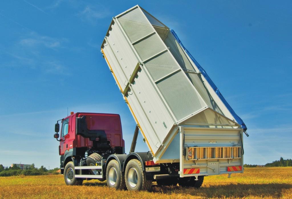 Výměnné zemědělské nástavby pro nákladní automobily