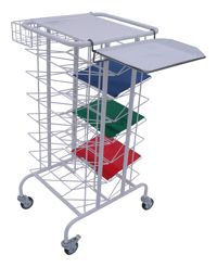 Pojízdný vizitový vozík a stolek na chorobopisy