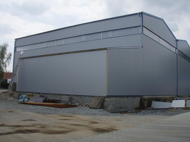 Realizace, montáže ocelových konstrukcí, hal Dačice