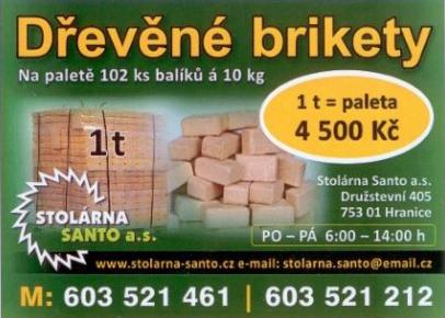 Dřevěné brikety zlín