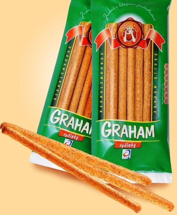 grahamové tyčinky se zvýšeným obsahem vlákniny Opava