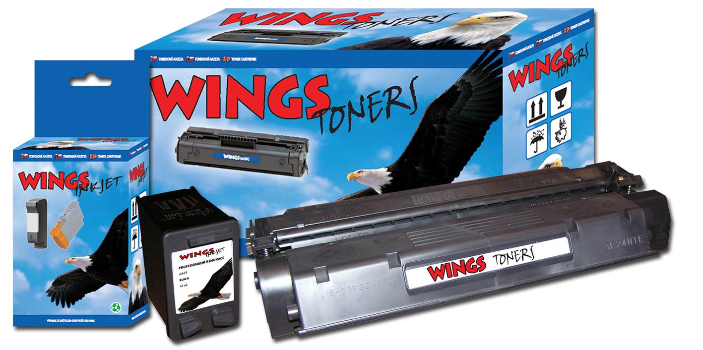 Profesionální náplně do tiskáren - renovace tonerů a inkoustů značky Wings, eshop