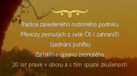 Převozy zesnulých z celé ČR i zahraničí Opava