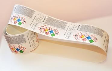 Výroba etiket ve standardních i zákaznických rozměrech, čárkový kód