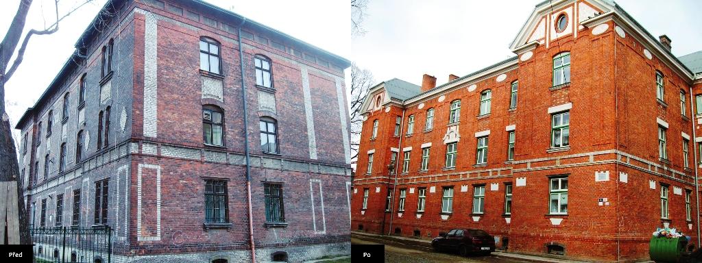 Čistění, ošetření a ochrana povrchů budov, omítek, střech a fasád Ostrava