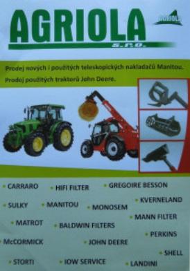 Prodej, oprava, servis zemědělských strojů Manitou, John Deere, Monosem, Landini