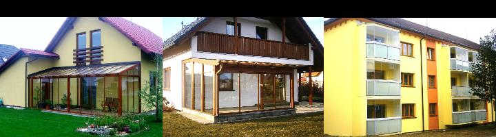 Zasklívání balkonů, lodžií a zimních zahrad systémem Alumistr