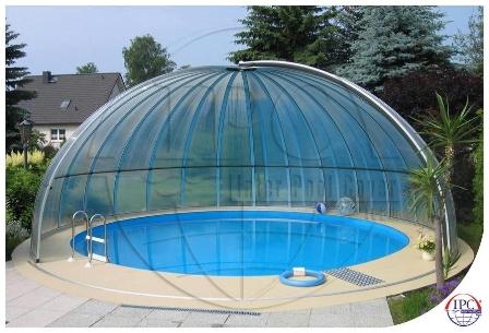Zastřešení bazénů, nízké, vysoké a kombi modely, prodloužení koupací sezóny