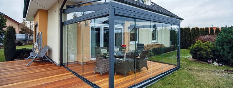 Lehká hliníková okna, dveře - zimní zahrady