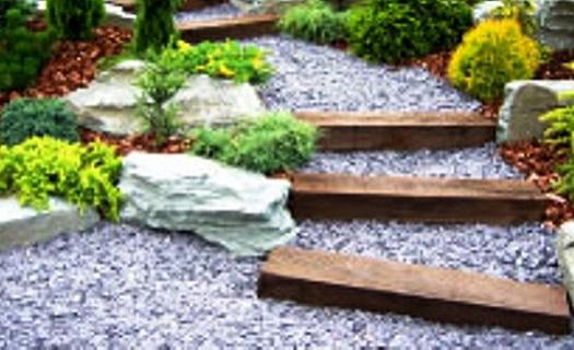 Mulčovací břidlicová drť pro okrasné zahrady Opava