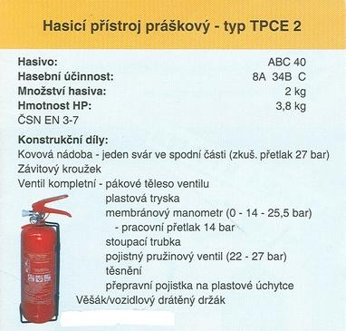 Prodej ručních hasicích přístrojů s certifikátem, práškové, CO2, membránový manometr