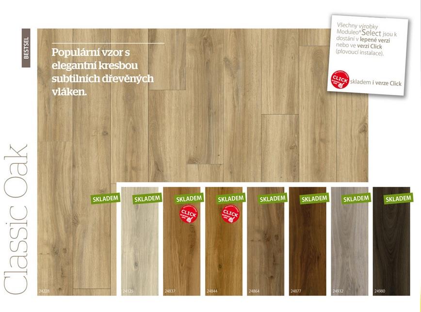 Lepené vinylové podlahy Moduleo SELECT - pokládka Praha
