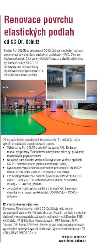 Renovace povrchu elastických podlah, ochranné nátěry pro sport