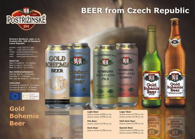 Výroba a prodej Postřižinských piv Nymburk