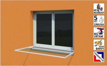 Prodej - pevné, polohovací okenní sušáky na prádlo, montáž na okenní rám bez vrtání