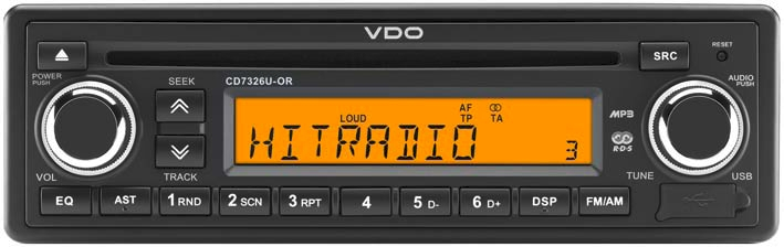 Autorádia VDO Děčín - 12V nebo 24V, USB, CD přehrávač