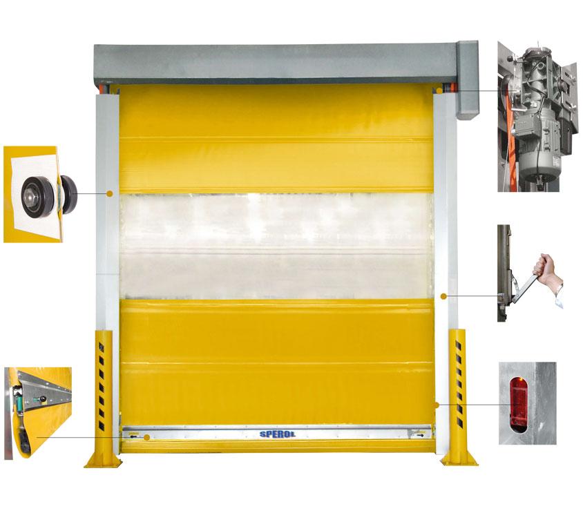 maximální rychlost - rolovací vrata na zakázku prodej Beroun