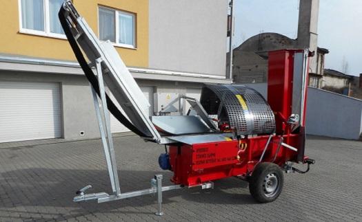 Výroba automatických mobilných štiepačiek dreva na palivové drevo