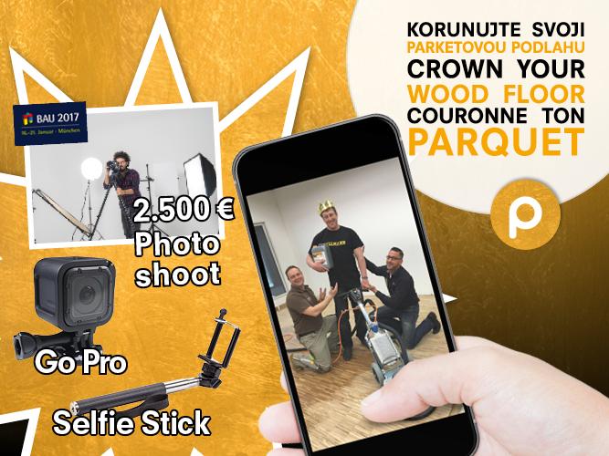 PALLMANN – mezinárodní fotosoutěž - Vyfoťte se při korunovaci vámi nalakované dřevěné podlahy PALL-X 98 GOLD